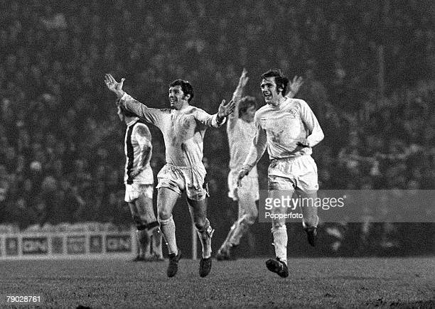 Sport Football League Division One Selhurst Park London England 18th November 1972 Crystal Palace 2 v Leeds United 2 Leeds United's Johnny Giles and...
