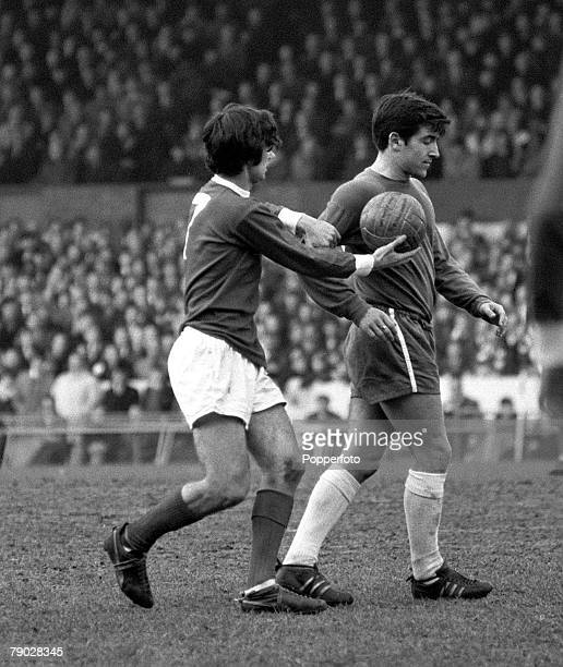 Sport Football League Division One Stamford Bridge London England 13th March 1966 Chelsea 2 v Manchester United 0 Manchester United's George Best...