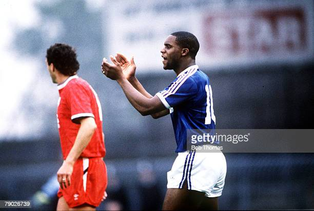 Sport Football League Division Two Portman Road England 15th October 1988 Ipswich Town 1 v Oxford United 2 Ipswich's Dalian Atkinson