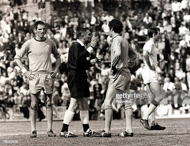 Sport Football League Division Two Selhurst Park London England 13th May 1967 Crystal Palace v Wolverhampton Wanderers Referee Wallace lectures...