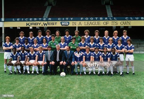 Sport Football Leicester CIty Football Club Circa lr Geoff Salmons David Webb Trevor Christie Roger Davies Mark Wallington Larry May Sean Rafter...