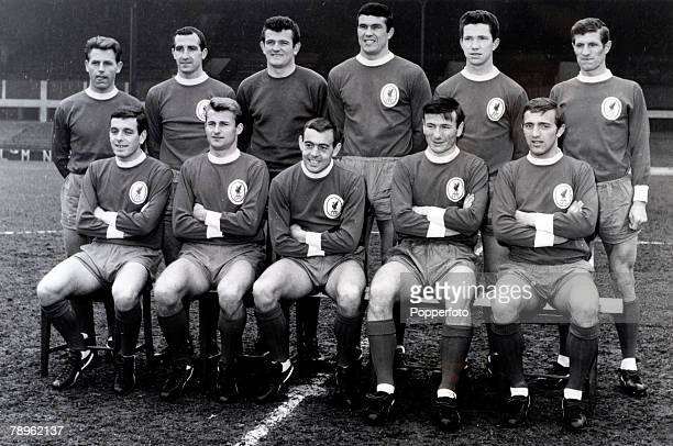 Sport Football Liverpool 19651966 Liverpool Back row leftright Gordon Milne Gerry Byrne Tommy Lawrence Ron Yeats Chris Lawler Willie Stevenson Front...