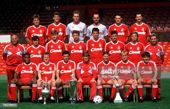 Sport. Football. Liverpool FC Team-Group 1988-89 Season