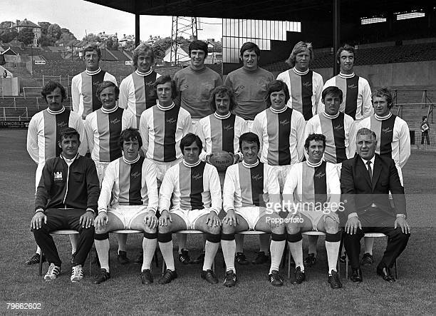 Sport Football London England 27th July 1971 The Crystal Palace FC first team squad for season 19712 pose together for a group photograph Back Row LR...
