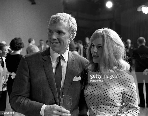 Sport Football London England 31st July 1966 England captain Bobby Moore is pictured with his wife Tina at a lunch reception the day after England...