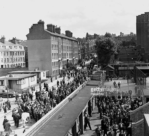 Sport Football London England An aerial view of some of the 51000 spectators attending Arsenal's first match of the season at Highbury