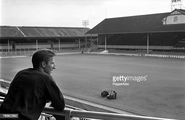 Sport Football London England Tottenham Hotspur footballer Cliff Jones looks out over the White Hart Lane stadium