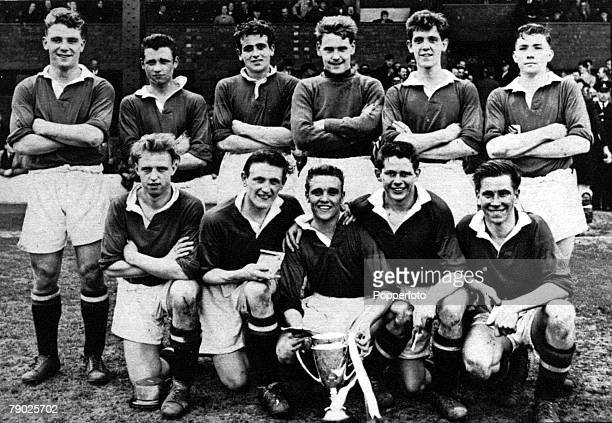 Sport Football Manchester United 1955 FA Youth Cup winners Players in the team included Duncan Edwards Shay Brennan Eddie Colman Wilf McGuiness and...
