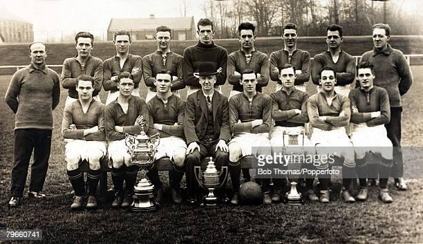 Sport Football Motherwell Football Club on tour in Argentina May and June 1928 Back Row LR A Donaldson Hutcheson MacFadyen Johnman Alan McClory...