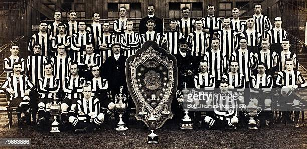 Sport Football Newcastle United 19071908 Football League Champions 19061907 Back row LR AHiggins AHall CDuffy DPudan CWatts AssTrainer HMiddleton...