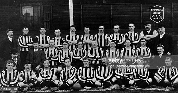 Sport Football Newcastle United FC 19041905 Newcastle were beaten finalists in the English Cup Final of 1905 Back row LR JQMcPherson CUrquhart...