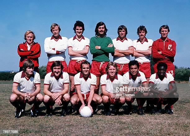 Sport Football Northampton Town 197677 season lr Petts Hall Gregory Starling Robertson Martin Pat Crerand lr Philips Tucker Best McGowan Stratford...