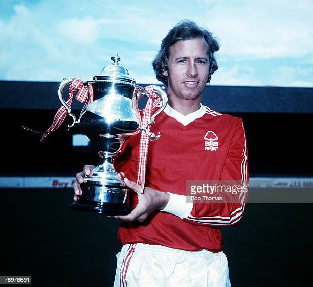 Sport Football Nottingham Forest's John McGovern holds the Anglo Scottish Cup which they won during the 197677 season