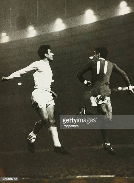 Sport Football Old Trafford England 24th April 1968 European Cup SemiFinal 1st leg Manchester United 1 v Real Madrid 0 Manchester United's John Aston...