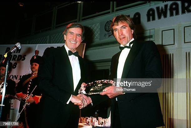 10th April 1988 PFA Awards London West Ham United's Billy Bonds receives the special Merit award from the Football Association Secretary Ted Croker