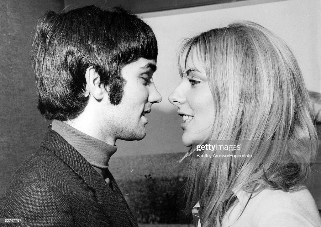 Sport Football. pic: 10th February 1968. Manchester United and Northern Ireland,'superstar' George Best pictured with his girlfriend Jackie Glass. : News Photo