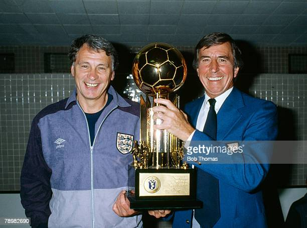 10th June 1984 International Match in Rio de Janeiro Brazil 0 v England 2 England Manager Bobby Robson left with FASecretary Ted Croker with the...