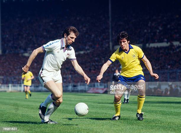 10th May 1980 FA Cup Final at Wembley West Ham United 1 v Arsenal 0 West Ham United's Alvin Martin and Arsenal's Frank Stapleton challenge for the...