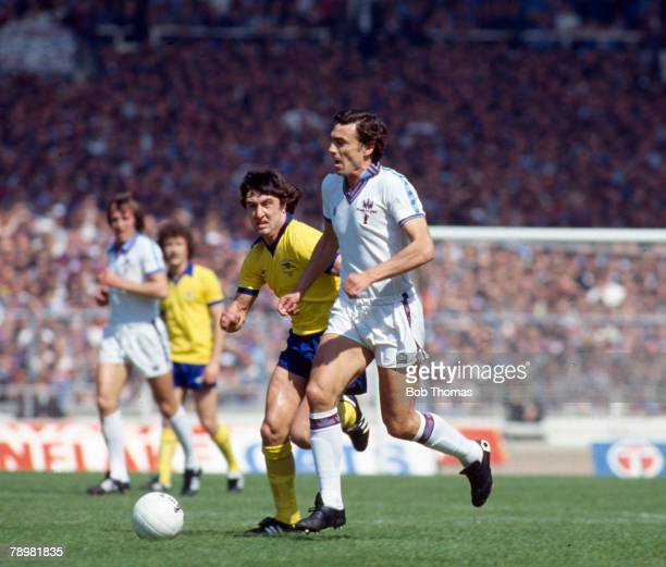10th May 1980 FA Cup Final at Wembley West Ham United 1 v Arsenal 0 West Ham United's matchwinner Trevor Brooking is chased by Arsenal's Brian Talbot
