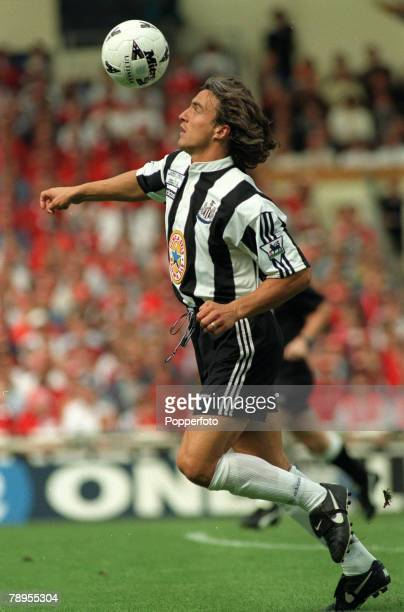11th August 1996 FA Charity Shield at Wembley Manchester United 4 v Newcastle United 0 David Ginola Newcastle United
