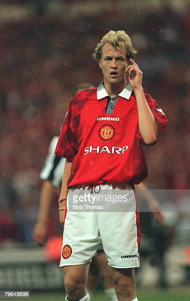 11th August 1996 FA Charity Shield at Wembley Manchester United 4 v Newcastle United 0 Jordi Cruyff Manchester United