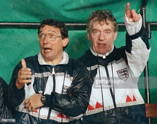 11th December 1990 'B' International in Algiers Algeria 0 v England 0 Animated expressions from England Manager Graham Taylor on the bench with his...