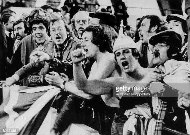 11th June 1978 1978 World Cup Finals in Argentina Scotland 1 v Iran 1 in Cordoba Irate Scotland fans shout their disapproval and demand their money...