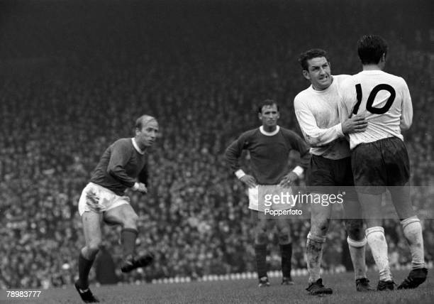 12th August 1967 FA Charity Shield at Old Trafford Manchester United v Tottenham Hotspur Tottenham Hotspur's Dave Mackay and Terry Venables take...