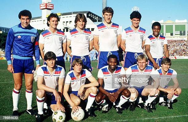 12th June 19831983 Summer Tour of AustraliaAustralia vs England Played on Sydney Cricket GroundEngland back row left right Peter Shilton Trevor...
