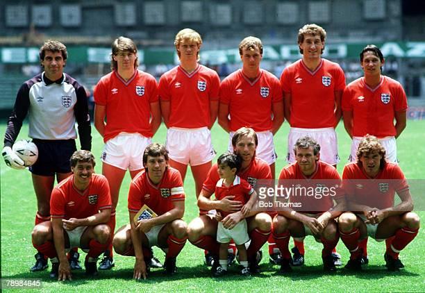 12th June 1985International Soccer Mexico City Germany vsEngland England back row left right Peter Shilton Chris Waddle Mark Wright Kerry Dixon Terry...