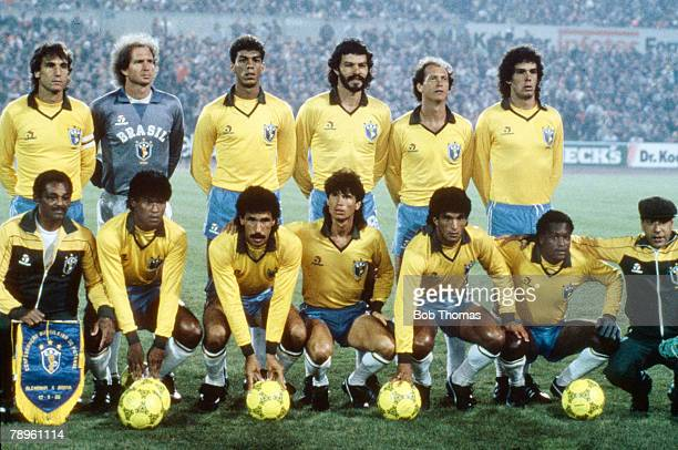 12th March 1986 Friendly International in Frankfurt West Germany 2 v Brazil 0 Brazil team group