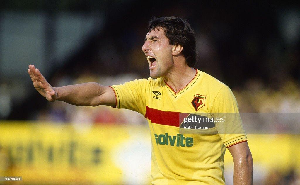 Sport. Football. pic: 12th October 1985. Division 1. Brian Talbot, Watford midfielder. : News Photo
