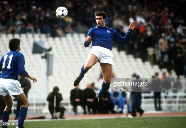 13th March 1985 Friendly International Greece 0 v Italy 0 Athens Giuseppe Bergomi Italy
