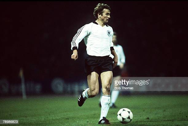 14th April 1982 International Football Wolfgang Dremmler West Germany who played for the national side 19811984