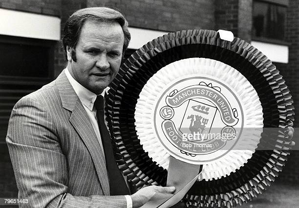 14th April 1983 Ron Atkinson the Manchester United Manager 19811986 with a giant rosette