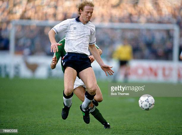 14th November 1990 European Championship in Dublin Republic of Ireland 1 v England 1 Mark Wright England central defender Mark Wright won 45 England...