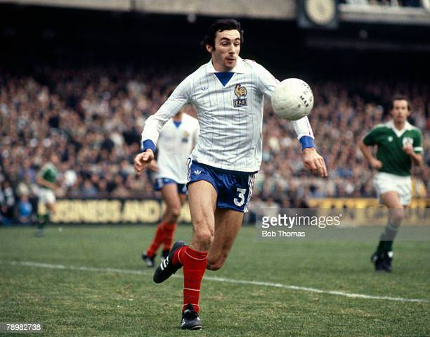 14th October 1981 World Cup Qualifier Republic of Ireland 3 v France 2 Maxime Bossis France who won 76 France international caps between 19761986