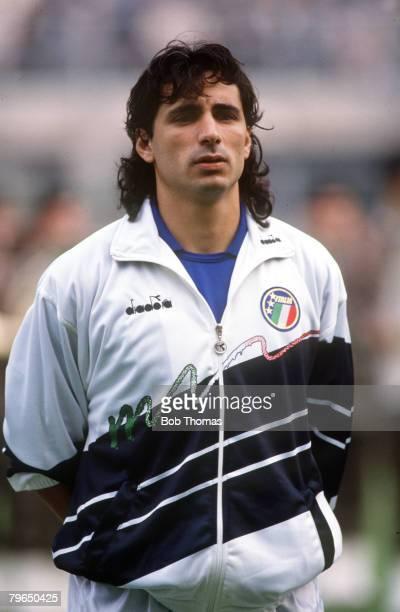 14th October 1989 Friendly International Bologna Italyv Brazil Andrea Carnevale Italy