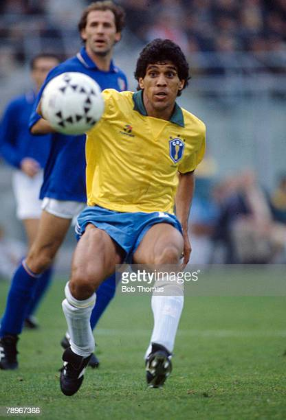 14th October 1989 Friendly International in Bologna Italy 0 v Brazil 1 Silas Brazil