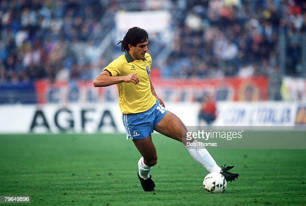 14th October 1989 Friendly International in Bologna Italy 0 v Brazil 1 Cruz Brazil