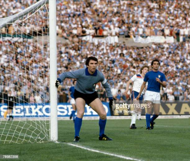 15th June 1980 European Championship in Turin Italy 1 v England 0 Italy goalkeeper Dino Zoff guards the goal Dino Zoff an Italy legend won 112...