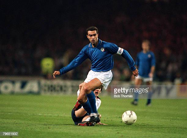 15th November 1989 Friendly International England 0 v Italy 0 Wembley Giuseppe Bergomi Italy
