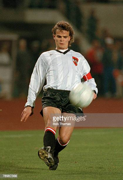 15th November 1989 World Cup Qualifier in Vienna Austria 3 v East Germany 0 Manfred Zsak Austria
