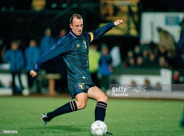 15th November 1995, European Championship Qualifier, Scotland 5 v San Marino 0, Gary McAllister, Scotland, who won 57 Scotland international caps...