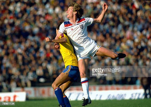 15th October 1980, World Cup Qualifier in Bucharest, Romania 2 v England 1, England's Graham Rix in action, Graham Rix, Arsenal midfielder,...
