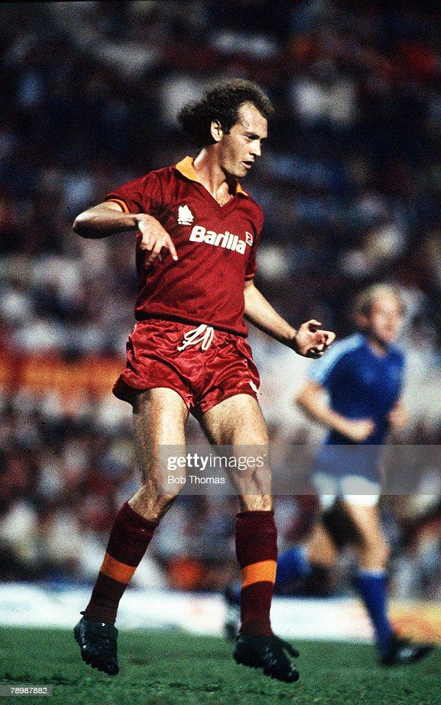 Sport. Football. pic: 15th September 1982. Paulo Falcao, AS.Roma. : News Photo