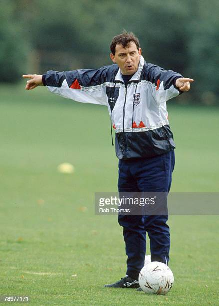 15th September 1990 England Training at Bisham Abbey England Manager Graham Taylor points the way Graham Taylor was the England Manager 19901993