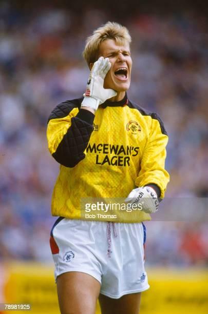 15th September 1990, Scottish Premier Division, Rangers 1 v Celtic 1, Chris Woods, Rangers goalkeeper, Chris Woods won 43 England international caps...