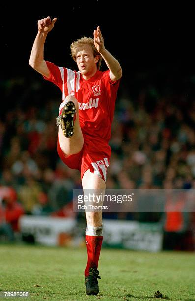 16th February 1992 FA Cup 5th Round Ipswich Town 0 v Liverpool 0 Mark Wright Liverpool central defender 19911998 Mark Wright won 45 England...