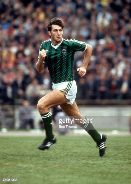 16th October 1985 World Cup Qualifier Bucharest Romania 0 v Northern Ireland 1 Norman Whiteside Northern Ireland Norman Whiteside won 38 Northern...